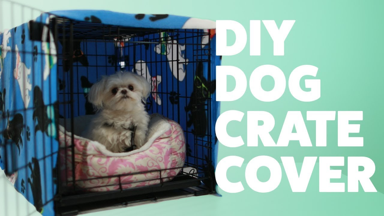 Diy Dog Crate Cover Diywednesday Rover