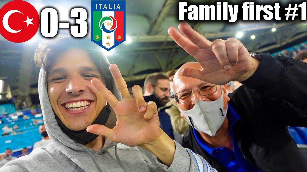 Download LIVE REACTION allo STADIO con MIO PADRE!!! TURCHIA 0-3 ITALIA - Family First Ep.1