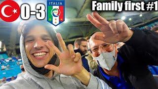 LIVE REACTION allo STADIO con MIO PADRE!!! TURCHIA 0-3 ITALIA - Family First Ep.1