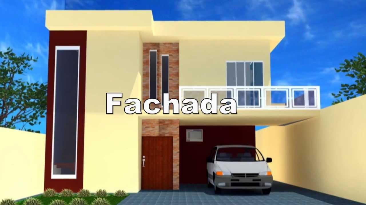 Residencia 2 pavimentos youtube for Casa moderna 2 andares 3 quartos