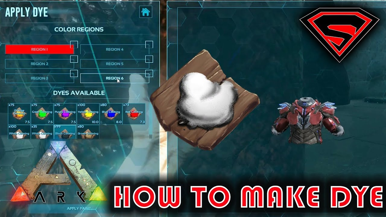 ARK HOW TO MAKE PAINT - ARK HOW TO MAKE DYE AND HOW IT IS USED