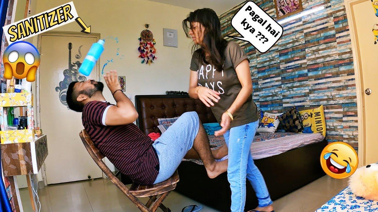 Download Drinking SANITISER Prank on WIFE !!! (MOM GOT EMOTIONAL)
