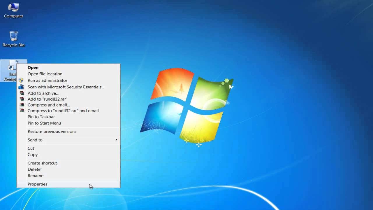 How To Create A Lock Computer Shortcut In Windows 7