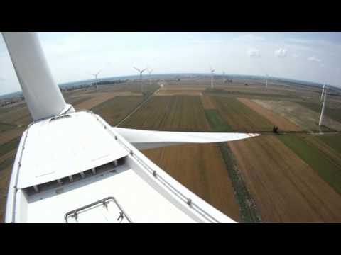 Day at work - wind farm with gopro hero hd