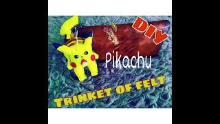 Diy Pokemon Pikachu Trinket of felt
