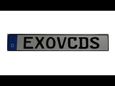 Win A Free EXOVCDS Euro Plate.... July.29.18