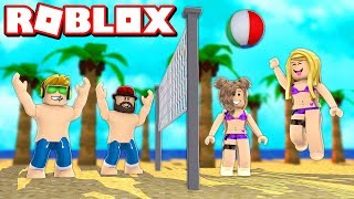 PLAYING VOLLEYBALL MIT MEINEM DAD in ROBLOX EPIC MINIGAMES