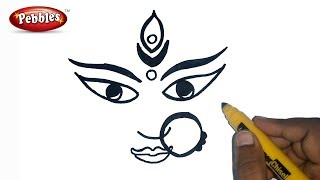 How to Draw durga maa | Durga Puja Drawing for Kids | Navratri Special