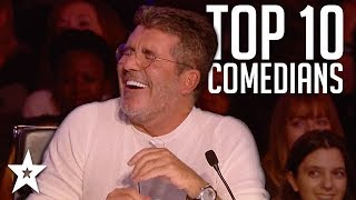 TOP 10 Funniest Comedians That Made SIMON COWELL Laugh on AGT  BGT  Got Talent Global