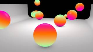 HypnoBaby - Colors Ball bounce looping animation.