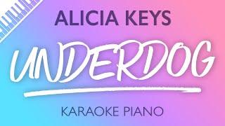 Alicia Keys - Underdog (Karaoke Piano) Resimi