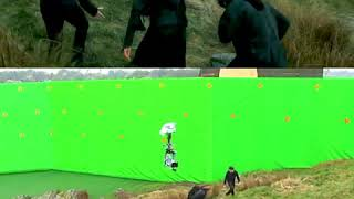 HARRY POTTER AND THE DEATHLY HALLOWS - PART 2 (2011)   Behind The Scenes Side By Side Comparison