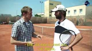LOVE 4 TENNIS Academy: An inside-out forehand by Dominik Hrbaty and Erik Csarnakovics
