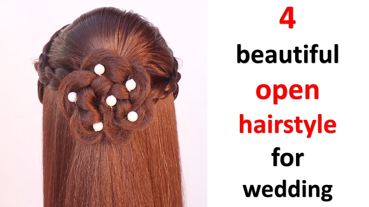 4 beautiful open hairstyle for wedding || cute hairstyle || easy hairstyle || hair style girl