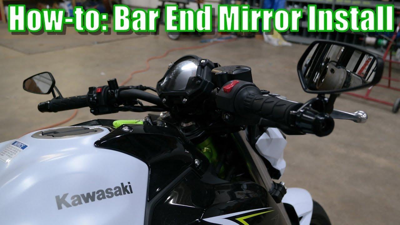 Ninja 650 2017 >> Bar End Mirror Install | 2017 Kawasaki Z650 | Retain your bar weights! - YouTube