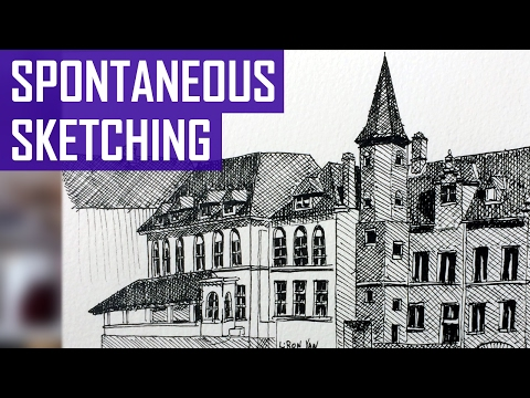 Spontaneous Sketching - Bruges, Belgium (Time-Lapse Version) ⏩