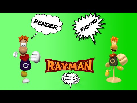 3D Model And Print Of Rayman