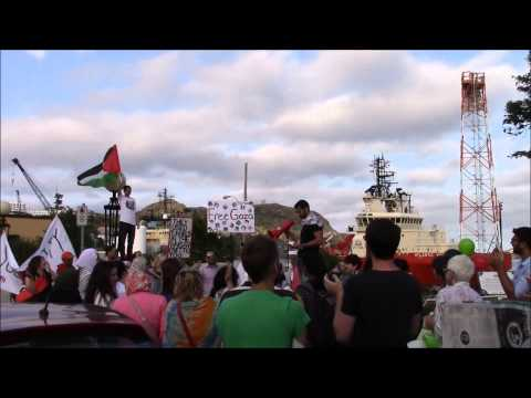 Peace and Freedom March for Gaza, St. John's Canada, 5 August 2014