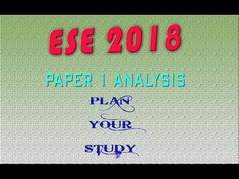 ESE PRELIMES PAPER 1 SUBJECT WISE MARKS DISTRIBUTION