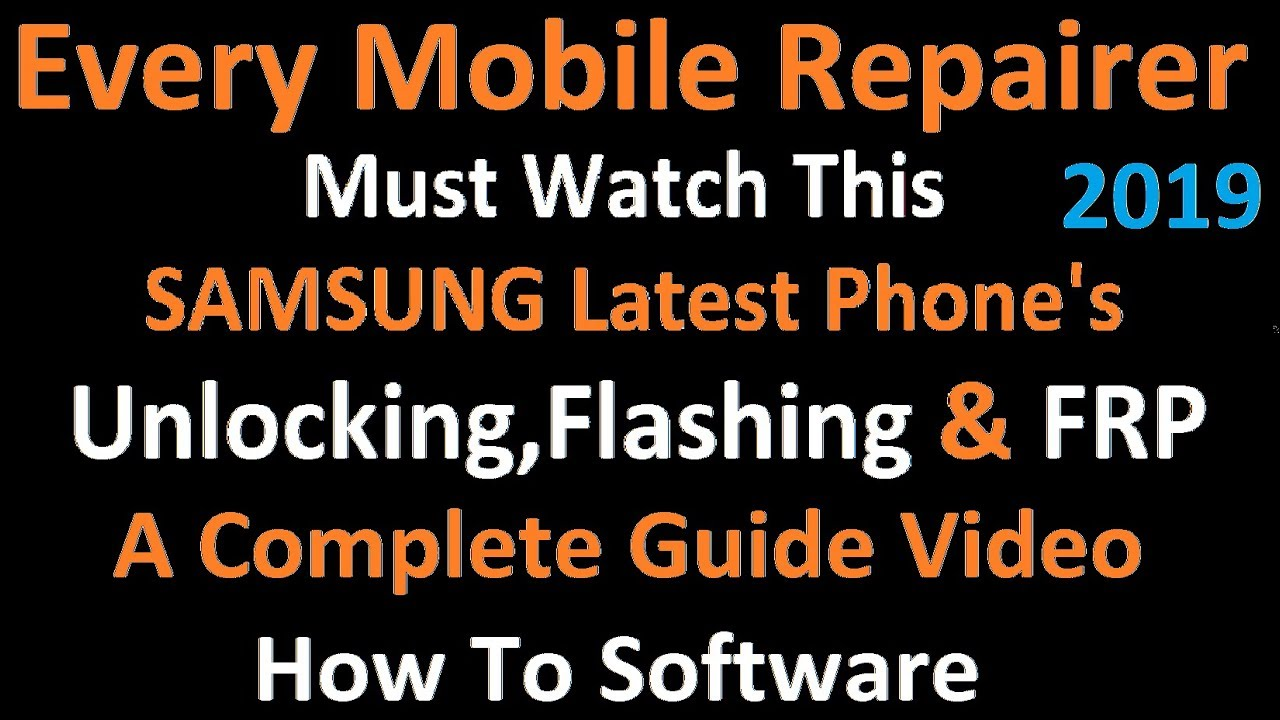 How to Software Samsung Latest phone | All Error Solution