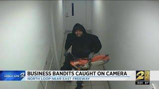 Business bandits caught on camera