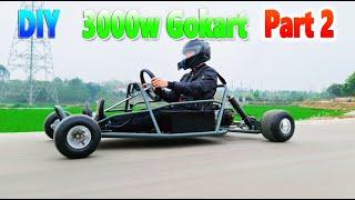 How To Make a 3000W Ele¢tric Go Kart v4 - Part 2