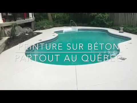 service de peinture sur b ton piscine texnov youtube. Black Bedroom Furniture Sets. Home Design Ideas
