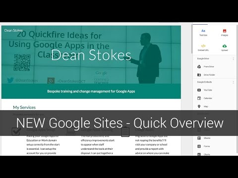 New Google Sites - Short Overview