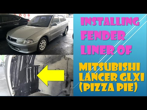 DIY, How to Install the Fender Liner of Mitsubishi Lancer GLXI 2000