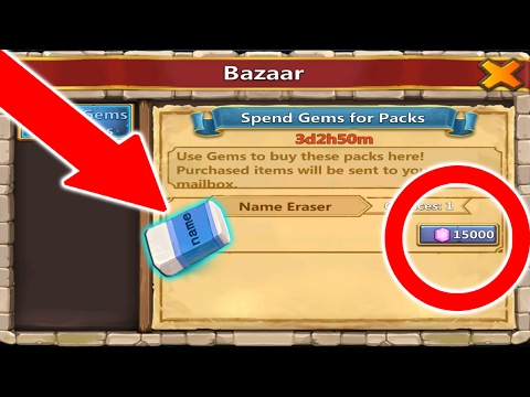 HOW TO CHANGE YOUR NAME IN CASTLE CLASH!!!