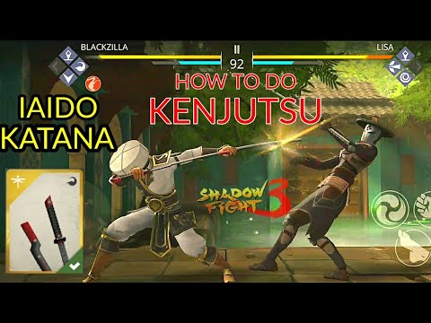 Shadow fight 3 HOW TO DO KENJUTSU | IAIDO KATANA