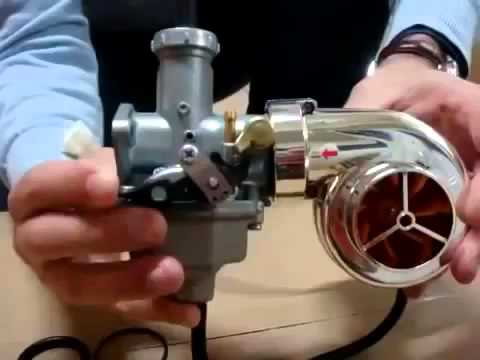 Турбина на мотоцикл. Turbine on a motorcycle.