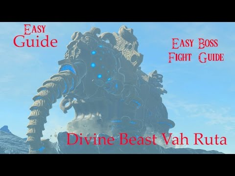 EASY Zora's Domain Divine Beast Vah Ruta Guide & How to Defeat WaterBlight Ganon EASILY