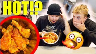 I fed my friends SUPER HOT WINGS and they almost FAINTED!