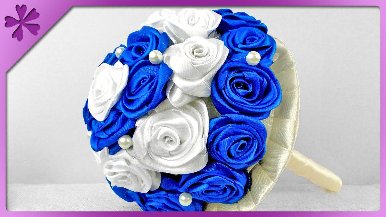 Diy Ribbon Roses Bouquet For Wedding Eng Subtitles Speed Up 88