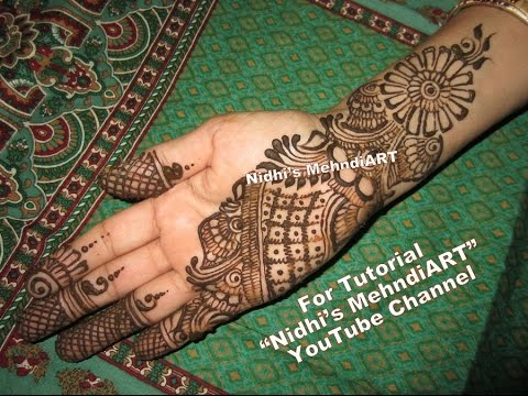 Front Hand Henna Mehndi Design : Popular full hand arabic henna mehndi design tutorial for right