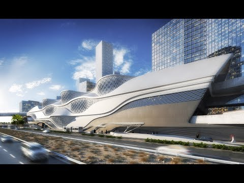 Metro station facade design | تصميم باترن محطة مترو زها حديد