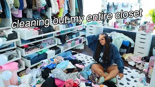 CLEANING OUT MY ENTIRE CLOSET (plz send help)