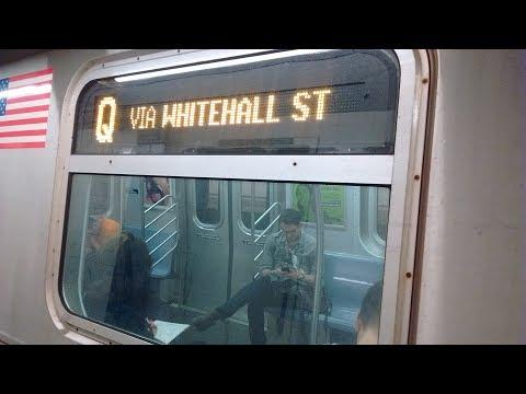 NYC Subway HD: Riding Kawasaki R160B Q via the N & R Lines 4 Av / Bway Lcl (8 Av to 96 St) (5/22/17)