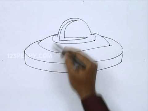 how to draw a spaceship cartoon