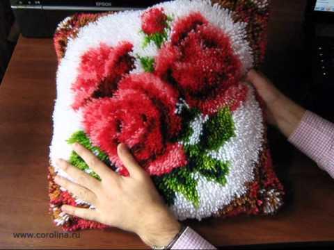 вышивки - чехол на подушку