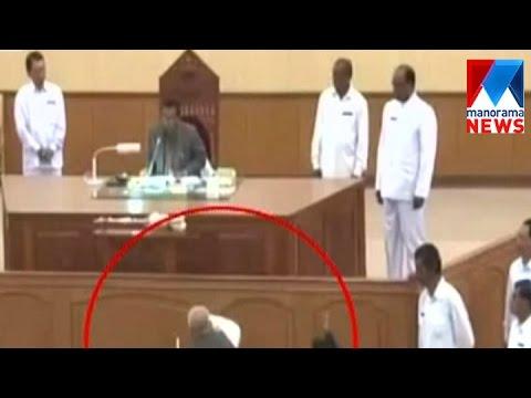 TMC leader snatches Speaker's mace   Manorama News