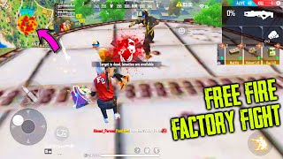 Free Fire Factory Roof OP Gameplay | King Of Factory Fist Fight | Garena Free Fire - P.K. GAMERS