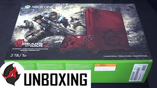 Gears of War 4 Xbox One S Unboxing - Limited Edition Console