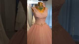 Свадебное платье, цвет пудра