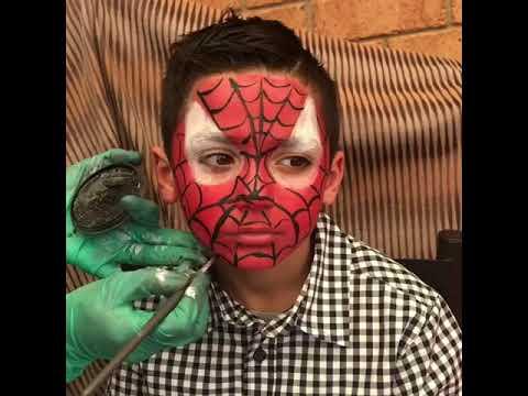 Spider Man On The Face رسم الرجل العنكبوت على الوجه Youtube