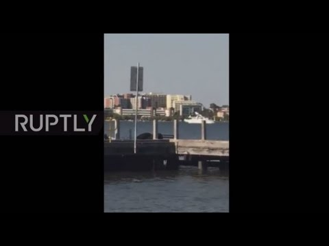 Australia: Footage captures plane crashing into Perth's Swan River