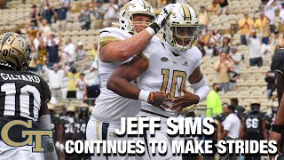 Georgia Tech QB Jeff Sims Continues To Make Strides
