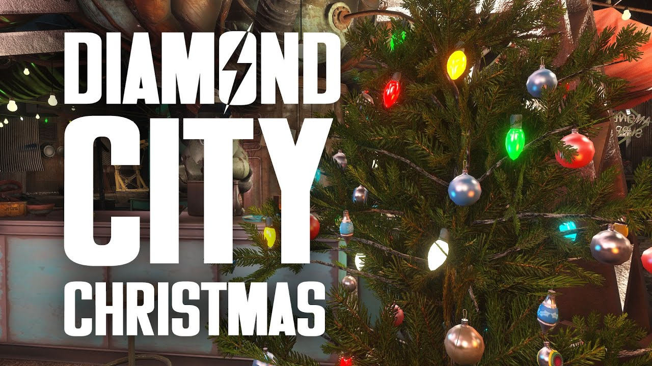 Diamond City Christmas - Fallout 4 Christmas Event - YouTube