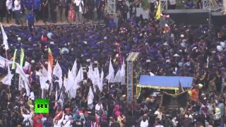 Scores rally for tolerance in support Indonesian governor after 'blasphemy' protest